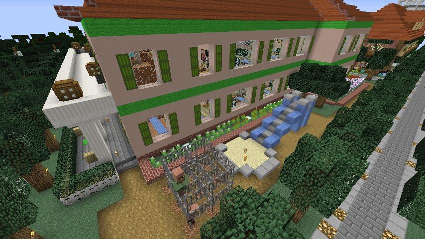 Minecrafterししゃもがマインクラフトでぷっこ村に山手234番館を再現してアパートとして貸し出す6