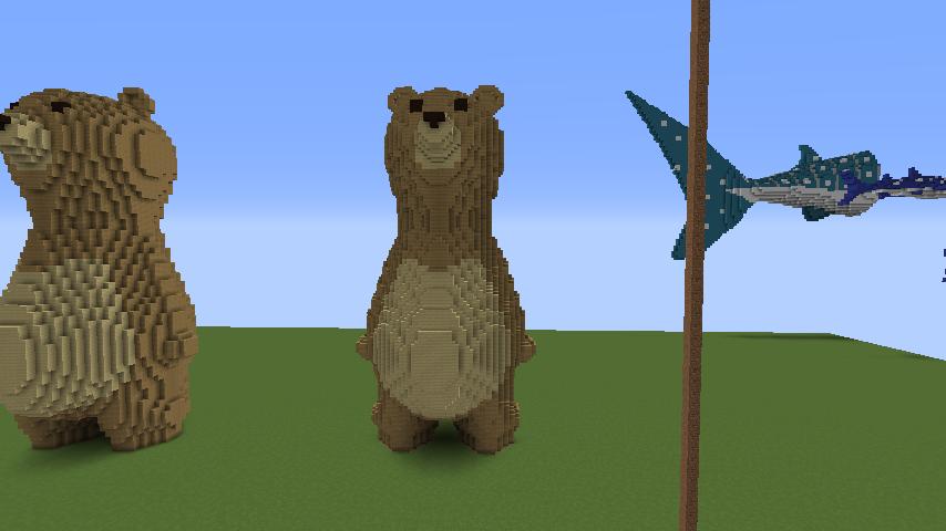 ついでに木彫りのクマさんも作る4