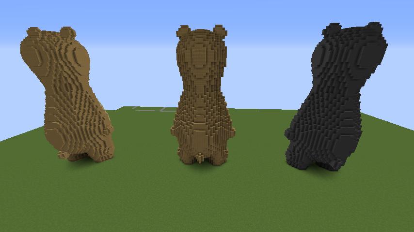 ついでに木彫りのクマさんも作る6