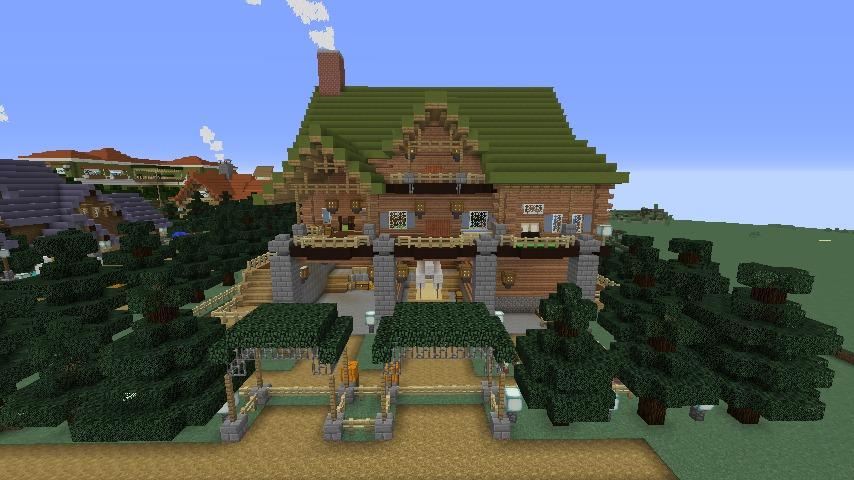Minecrafterししゃもがマインクラフトでぷっこ村に移住希望者受け入れのためのログハウス5号を建設する9