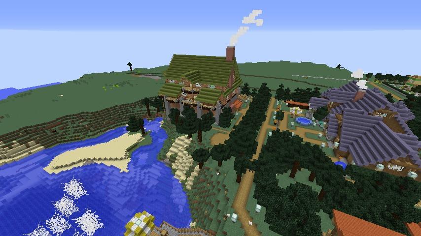 Minecrafterししゃもがマインクラフトでぷっこ村に移住希望者受け入れのためのログハウス5号を建設する10