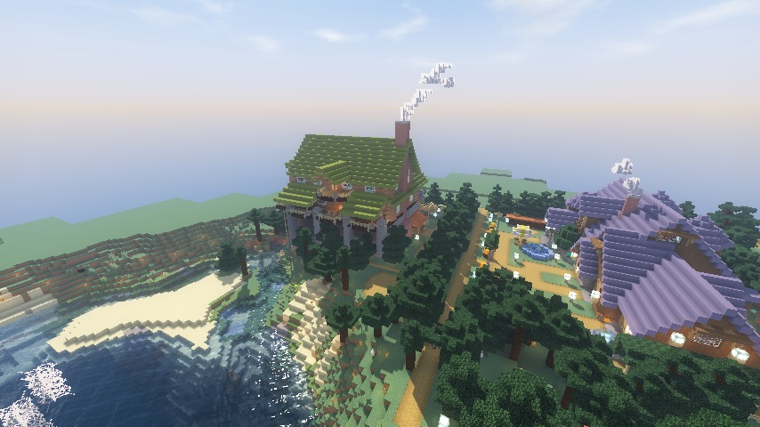 Minecrafterししゃもがマインクラフトでぷっこ村に移住希望者受け入れのためのログハウス5号を建設する12
