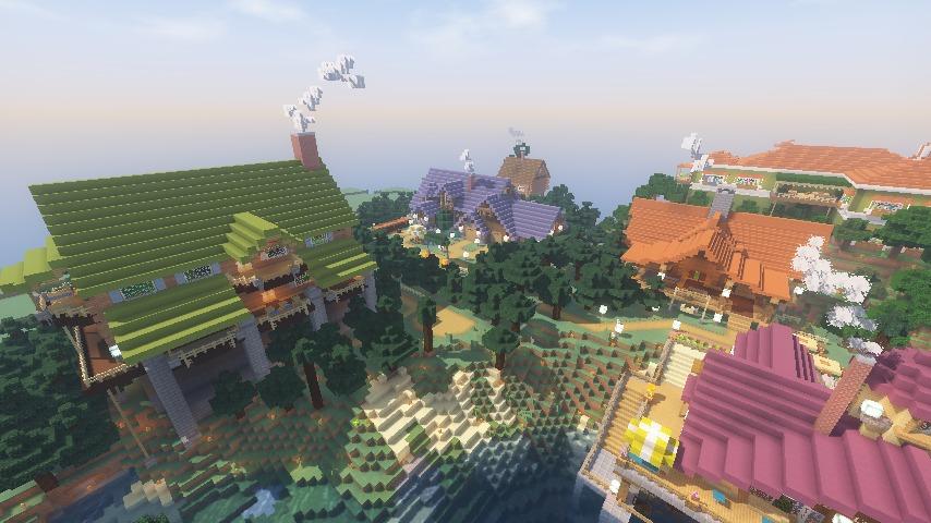 Minecrafterししゃもがマインクラフトでぷっこ村に移住希望者受け入れのためのログハウス5号を建設する14