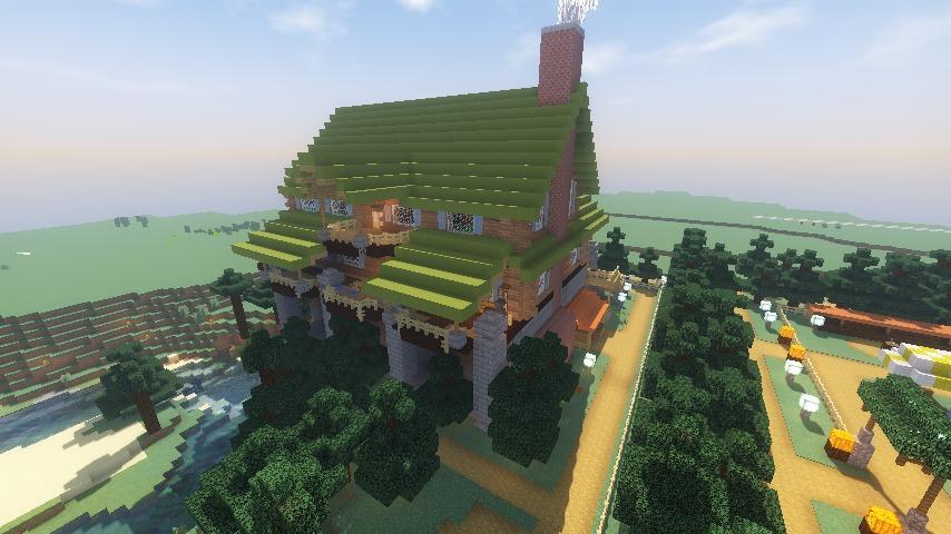 Minecrafterししゃもがマインクラフトでぷっこ村に移住希望者受け入れのためのログハウス5号を建設する13