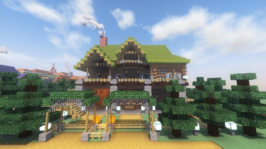 Minecrafterししゃもがマインクラフトでぷっこ村に移住希望者受け入れのためのログハウス5号を建設する11