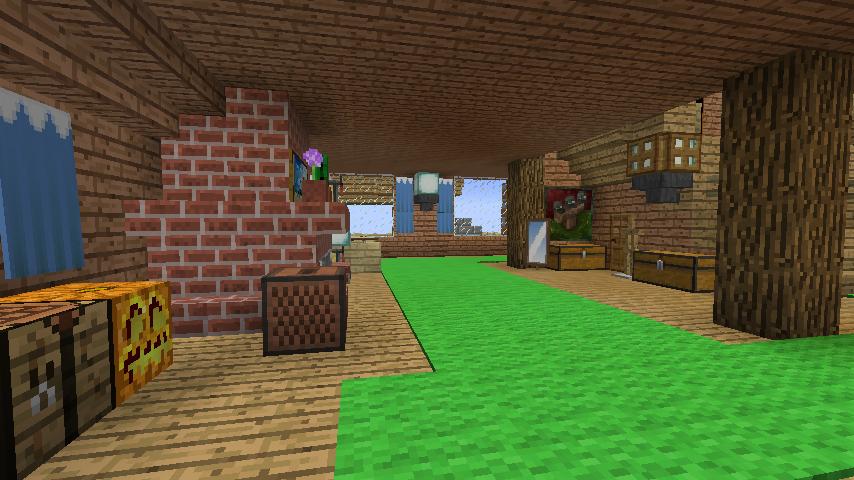 Minecrafterししゃもがマインクラフトでぷっこ村に移住者受け入れ用のログハウス5号を建設する6