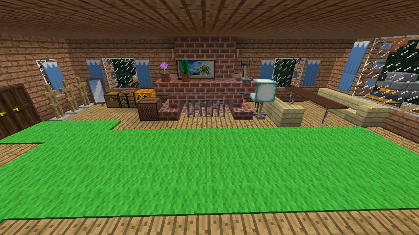 Minecrafterししゃもがマインクラフトでぷっこ村に移住者受け入れ用のログハウス5号を建設する7