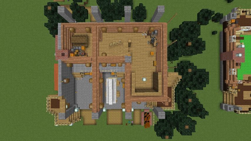 Minecrafterししゃもがマインクラフトでぷっこ村に移住者受け入れ用のログハウス5号を建設する12