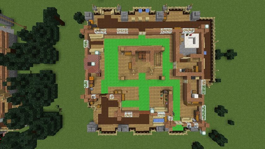 Minecrafterししゃもがマインクラフトでぷっこ村に移住者受け入れ用のログハウス5号を建設する5