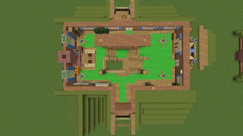 Minecrafterししゃもがマインクラフトでぷっこ村に移住者受け入れ用のログハウス5号を建設する16
