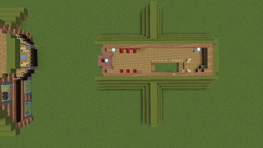 Minecrafterししゃもがマインクラフトでぷっこ村に移住者受け入れ用のログハウス5号を建設する21