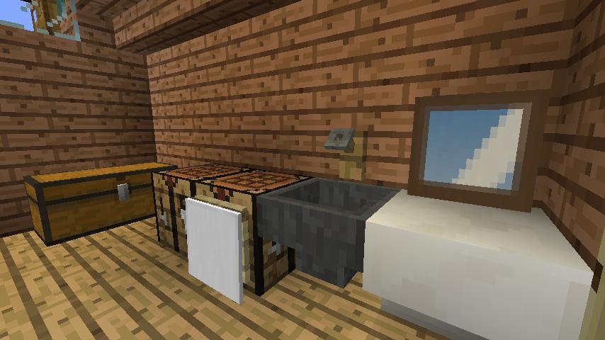 Minecrafterししゃもがマインクラフトでぷっこ村に移住者受け入れ用のログハウス5号を建設する8