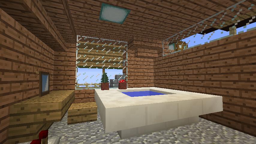 Minecrafterししゃもがマインクラフトでぷっこ村に移住者受け入れ用のログハウス5号を建設する9