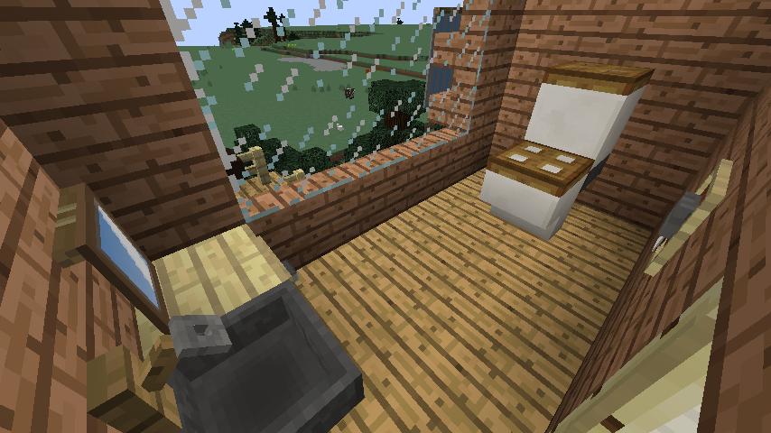 Minecrafterししゃもがマインクラフトでぷっこ村に移住者受け入れ用のログハウス5号を建設する10