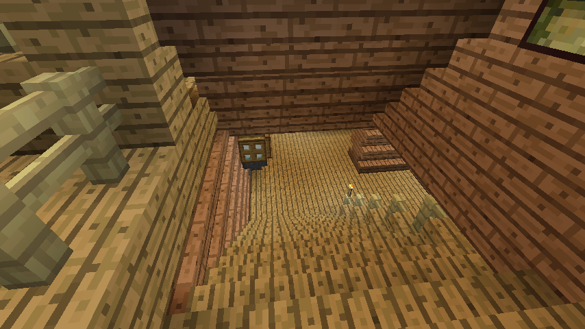 Minecrafterししゃもがマインクラフトでぷっこ村に移住者受け入れ用のログハウス5号を建設する11