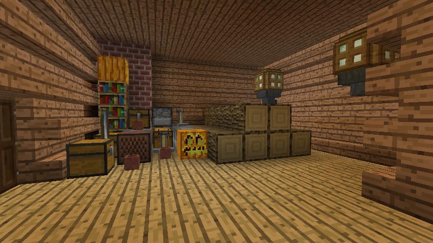 Minecrafterししゃもがマインクラフトでぷっこ村に移住者受け入れ用のログハウス5号を建設する13