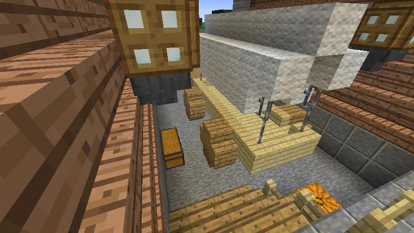 Minecrafterししゃもがマインクラフトでぷっこ村に移住者受け入れ用のログハウス5号を建設する14