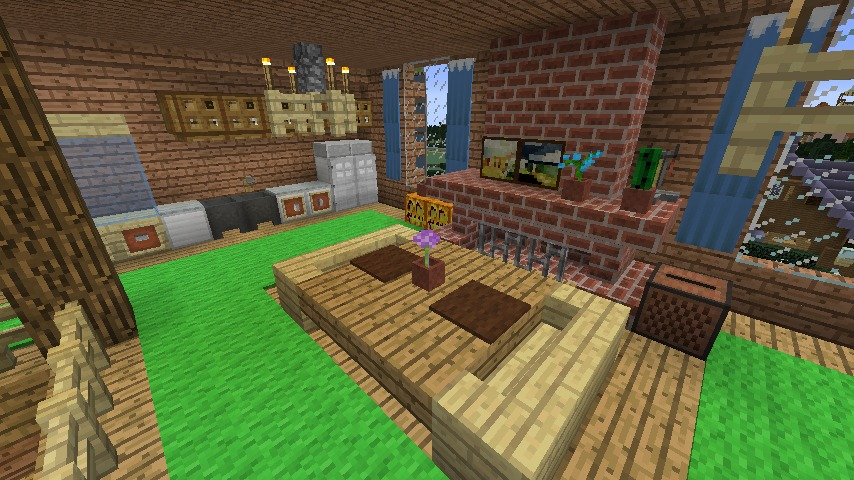Minecrafterししゃもがマインクラフトでぷっこ村に移住者受け入れ用のログハウス5号を建設する17