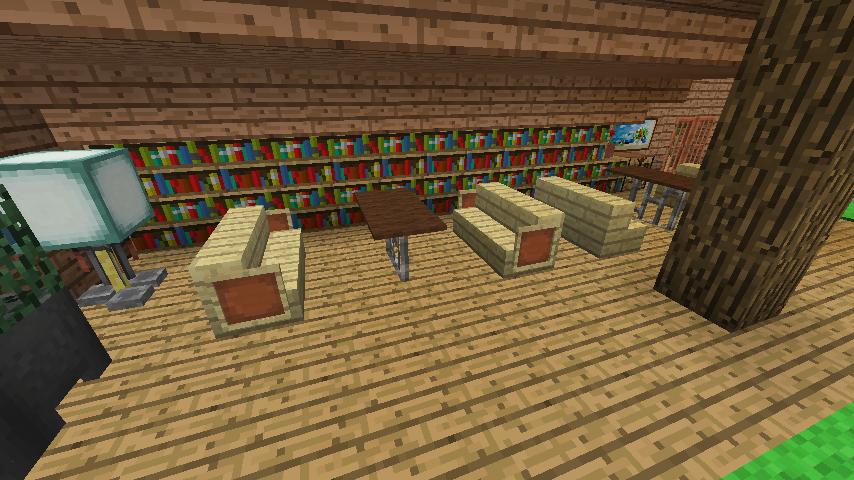 Minecrafterししゃもがマインクラフトでぷっこ村に移住者受け入れ用のログハウス5号を建設する19