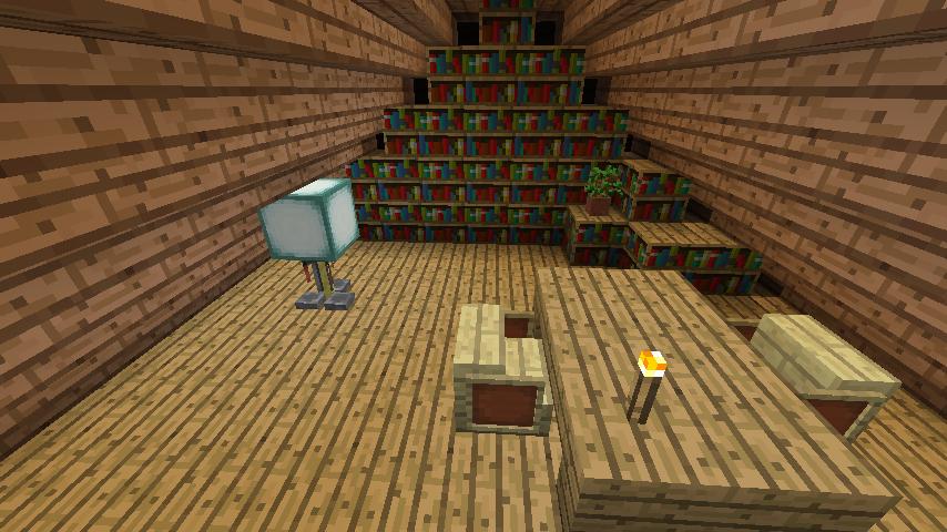 Minecrafterししゃもがマインクラフトでぷっこ村に移住者受け入れ用のログハウス5号を建設する23