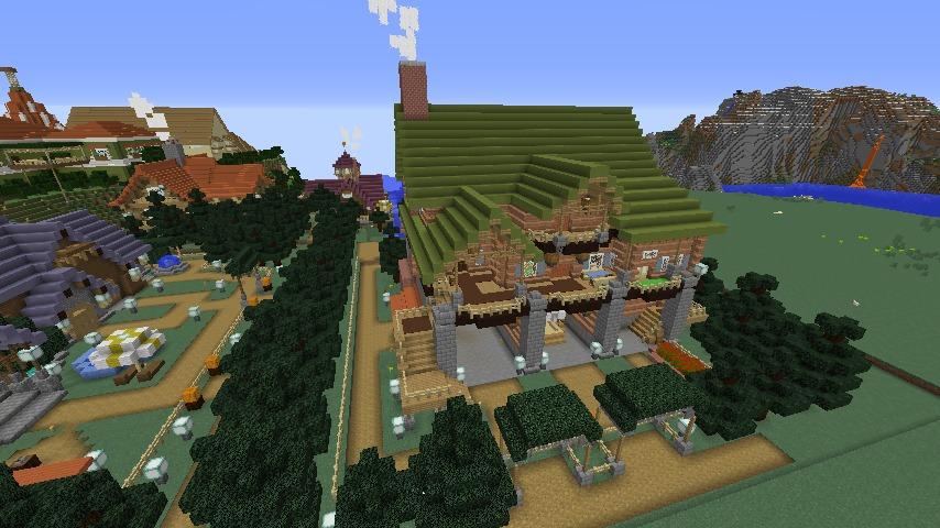 Minecrafterししゃもがマインクラフトでぷっこ村に移住者受け入れ用のログハウス5号を建設する1