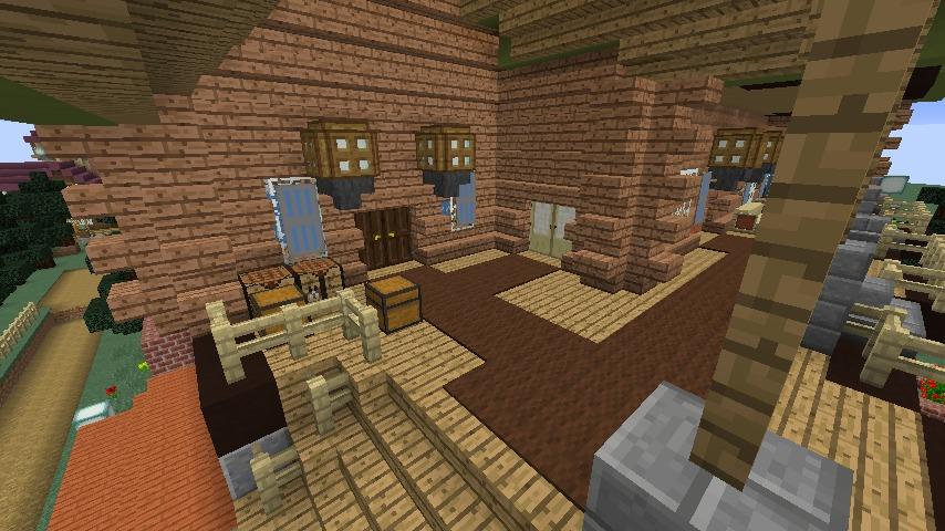 Minecrafterししゃもがマインクラフトでぷっこ村に移住者受け入れ用のログハウス5号を建設する4