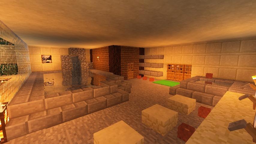 Minecrafterししゃもがマインクラフトでぷっこ村にある老舗リゾートホテルを紹介する6