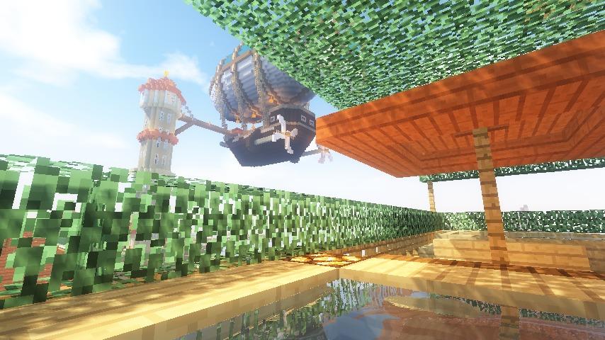 Minecrafterししゃもがマインクラフトでぷっこ村にある老舗リゾートホテルを紹介する7