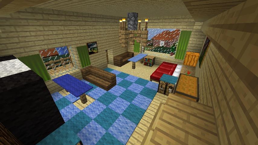 Minecrafterししゃもがマインクラフトでぷっこ村にある老舗リゾートホテルを紹介する11