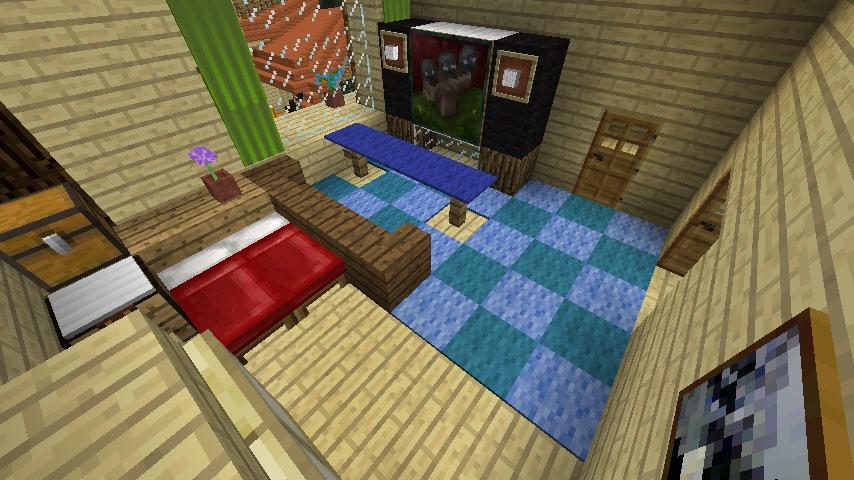 Minecrafterししゃもがマインクラフトでぷっこ村にある老舗リゾートホテルを紹介する12