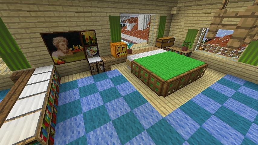 Minecrafterししゃもがマインクラフトでぷっこ村にある老舗リゾートホテルを紹介する15