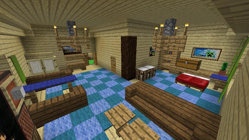 Minecrafterししゃもがマインクラフトでぷっこ村にある老舗リゾートホテルを紹介する17