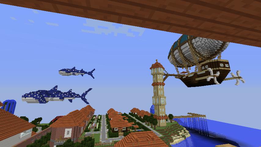 Minecrafterししゃもがマインクラフトでぷっこ村にある老舗リゾートホテルを紹介する16