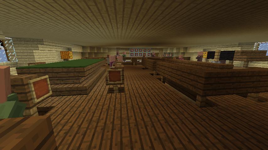 Minecrafterししゃもがマインクラフトでぷっこ村にある老舗リゾートホテルを紹介する18