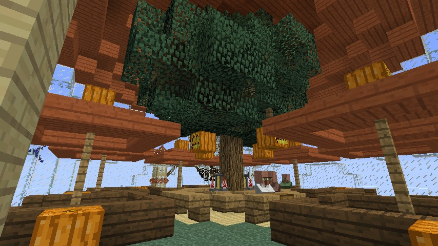 Minecrafterししゃもがマインクラフトでぷっこ村にある老舗リゾートホテルを紹介する21