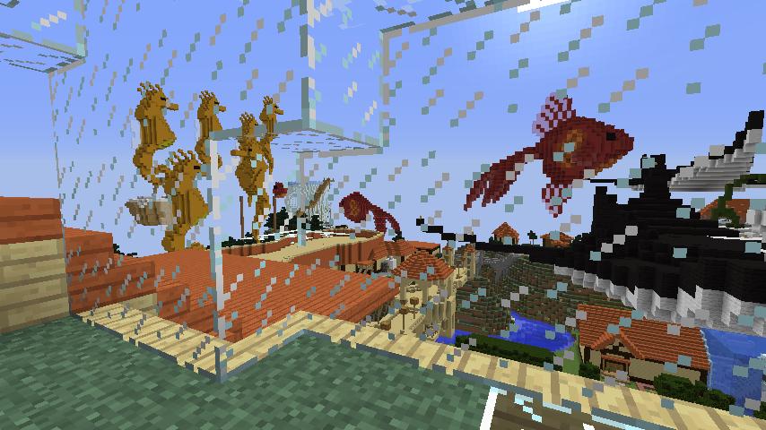 Minecrafterししゃもがマインクラフトでぷっこ村にある老舗リゾートホテルを紹介する24