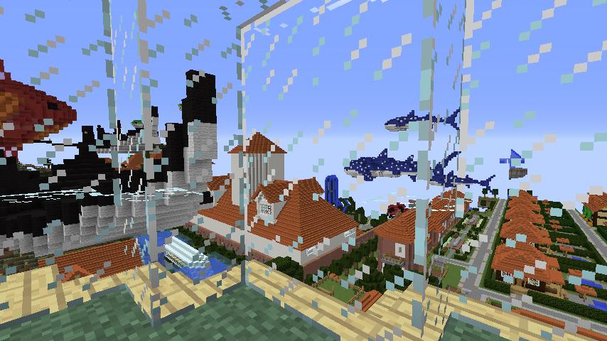 Minecrafterししゃもがマインクラフトでぷっこ村にある老舗リゾートホテルを紹介する25