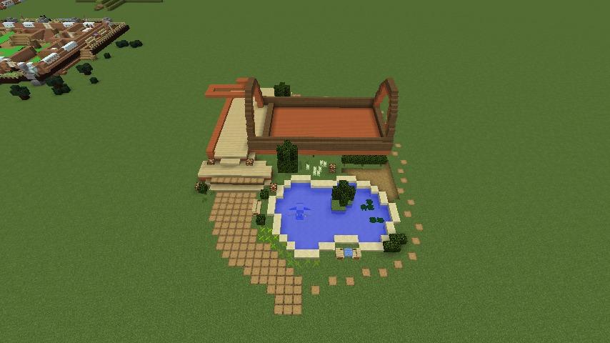 Minecrafterししゃもがマインクラフトでぷっこ村に移住者受け入れ用のログハウス6号を建築する2
