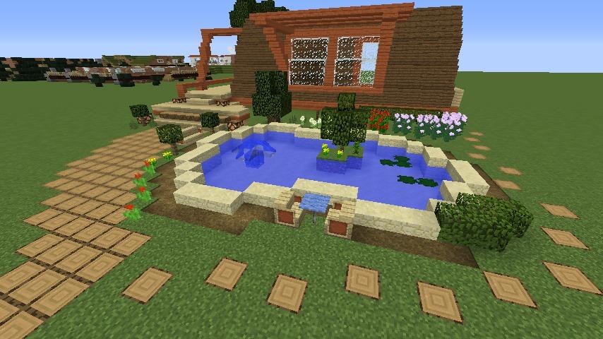 Minecrafterししゃもがマインクラフトでぷっこ村に移住者受け入れ用のログハウス6号を建築する4