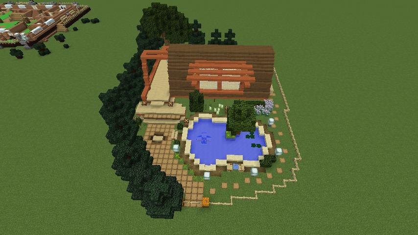 Minecrafterししゃもがマインクラフトでぷっこ村に移住者受け入れ用のログハウス6号を建築する5