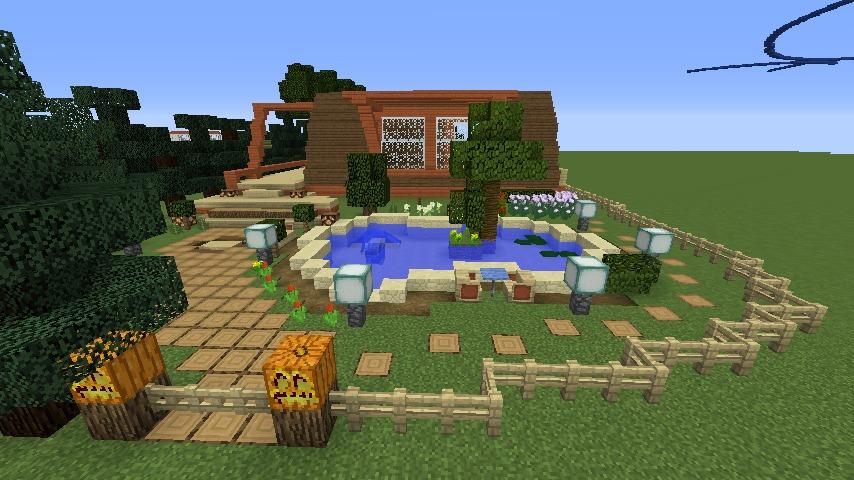 Minecrafterししゃもがマインクラフトでぷっこ村に移住者受け入れ用のログハウス6号を建築する6