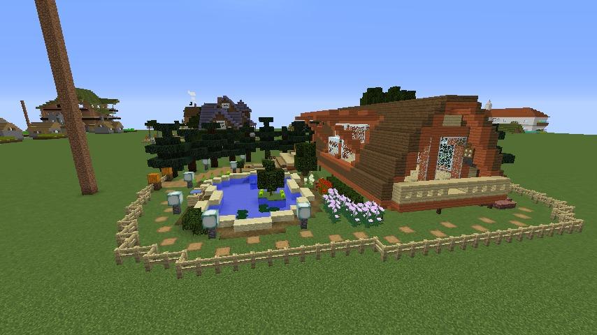 Minecrafterししゃもがマインクラフトでぷっこ村に移住者受け入れ用のログハウス6号を建築する8