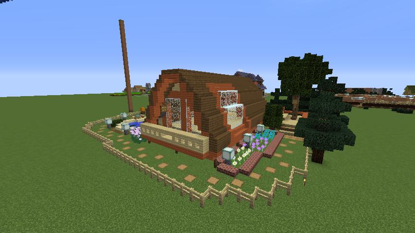 Minecrafterししゃもがマインクラフトでぷっこ村に移住者受け入れ用のログハウス6号を建築する7