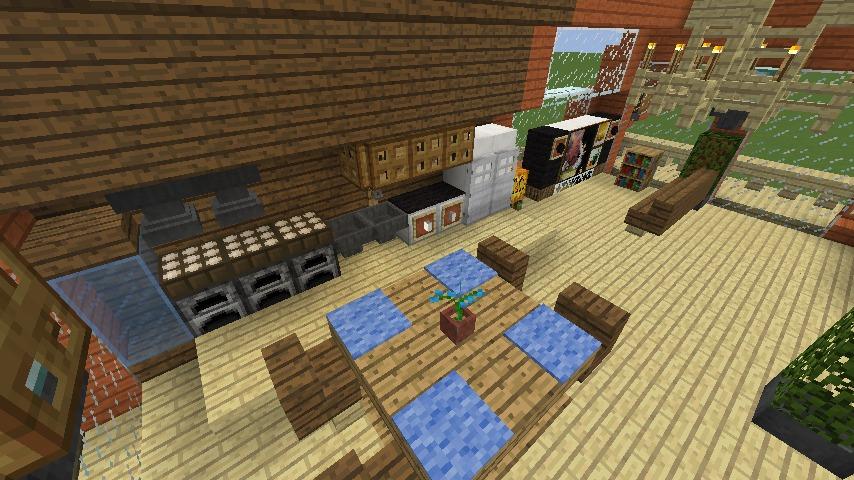 Minecrafterししゃもがマインクラフトでぷっこ村に移住者受け入れ用のログハウス6号を建築する12