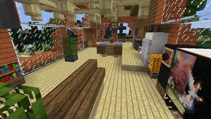 Minecrafterししゃもがマインクラフトでぷっこ村に移住者受け入れ用のログハウス6号を建築する13