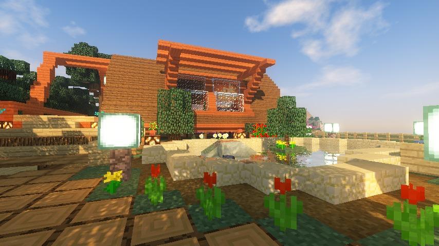 Minecrafterししゃもがマインクラフトでぷっこ村に移住者受け入れ用のログハウス6号を建築する15