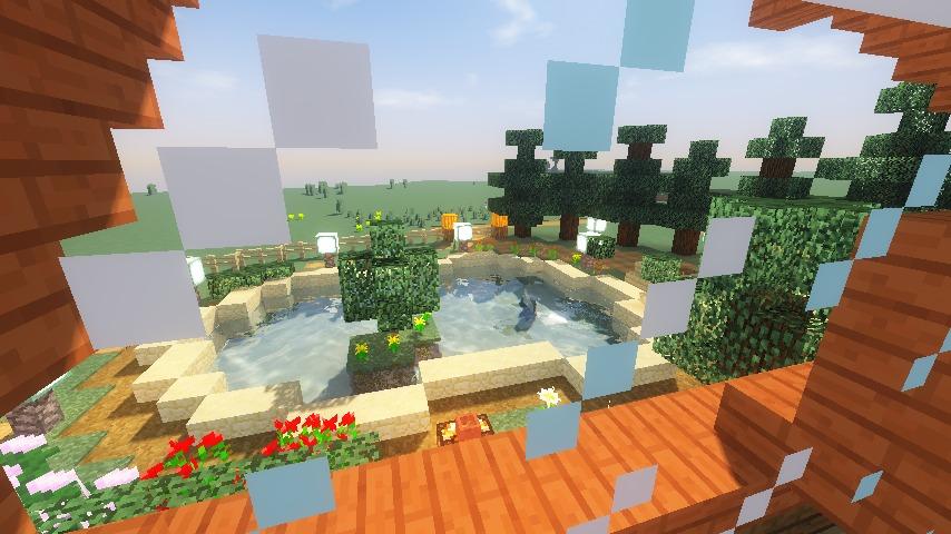 Minecrafterししゃもがマインクラフトでぷっこ村に移住者受け入れ用のログハウス6号を建築する17