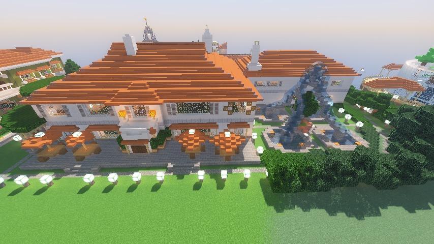 Minecrafterししゃもがマインクラフトでぷっこ村にイギリス館を建てて紹介する19