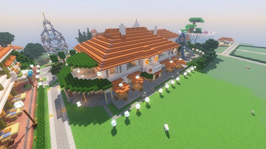 Minecrafterししゃもがマインクラフトでぷっこ村にイギリス館を建てて紹介する20