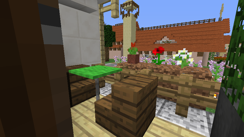 Minecrafterししゃもがマインクラフトでぷっこ村にイギリス館を建てて紹介する12